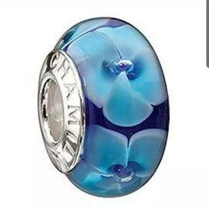 Authentic Chamilia Murano Charm Bead w/ .925 Core